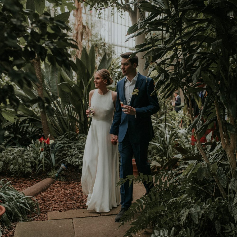 Creative + Fun Wedding photography at The Barbican, London